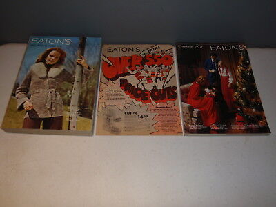 1975 Eaton's Department Stores Christmas Catalog & Fall And Winter Lot