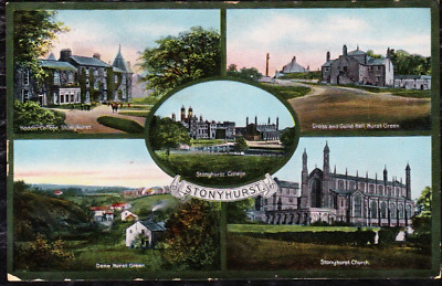 1915 - STONYHURST MULTI-VIEW POSTCARD - POSTED IN 1915 -Constantine's,Accrington