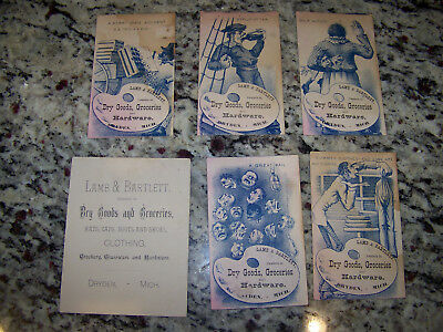 Lamb and Bartlett Merchants, Dryden, Michigan Parlor or Advertising Cards