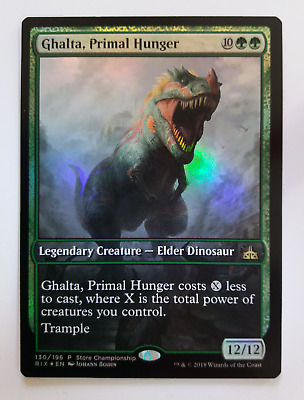 MTG Ghalta, Primal Hunger Rivals of Ixalan Store Championship Foil Promo
