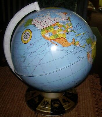 vintage Ohio Art tin globe-1940's maybe 1950's