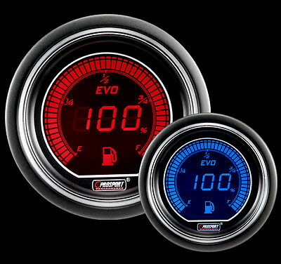 52mm EVO Series Red and Blue Fuel Level Gauge