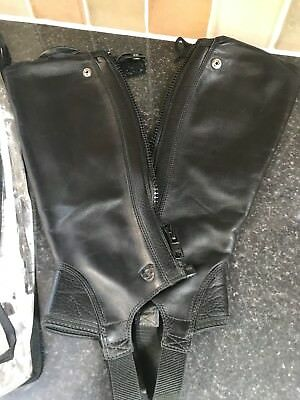 Ariat Concord Chaps Smooth Black Size Small