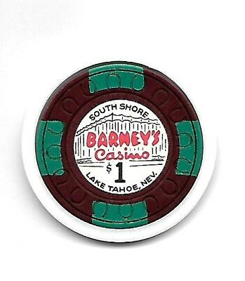 "~$1.oo ~ ""BARNEY'S"" Casino chip,TCR #N4390 ~ South Shore, Lake Tahoe, NV lot LV"