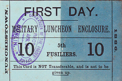 19th Century Military Pass - Royal Dublin Fusiliers