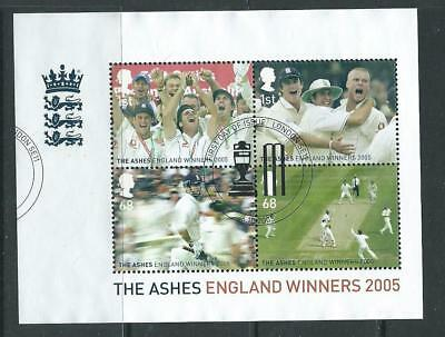 GB 2005 - Ashes Winners  - Mini Sheet - Very fine used