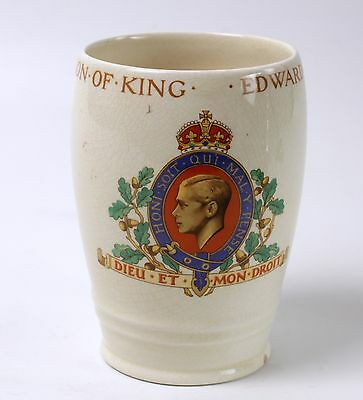 King Edward VIII 1937 Coronation Beaker Cup British Pottery