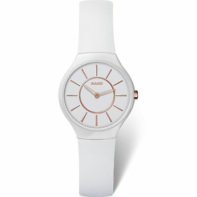 8be0f1f23 LADIES RADO R27958109 True Thinline White Rubber Strap White Dial ...