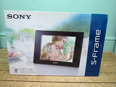 "New Sony DPF-D80 8"" Digital Picture Frame"