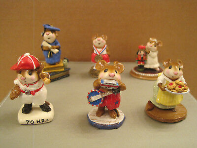 Wee Forest Folk Lot of (6) assorted mice