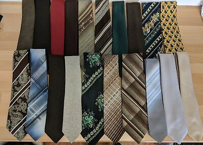 Job Lot x 20 vintage Tootal Ties 1970s & 1980s & 1990s made in England