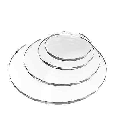 Laser Cut Clear Acrylic Plastic Circle Discs Perspex Sheet - Various Sizes