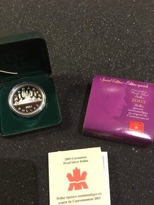 Kanada 2003, 1 Dollar Silber PP, Proof Silver, Spec Edition, 50 Yrs Coronation