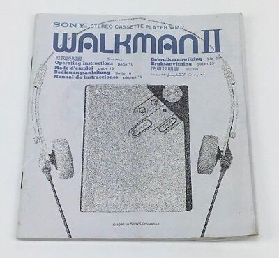 Sony Walkman II WM 2 Operating Instructions Booklet Book Manual Only 1980 Guide