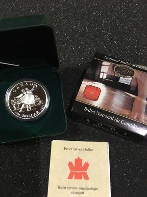 Kanada 2001, 1 Dollar Silber PP, proof, 50th Anniv National Ballet Of Canada