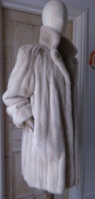 "Magnificent 32"" Long ""Tourmaline"" Ranch Mink Short Coat-UK size 12 to 14 Mint."