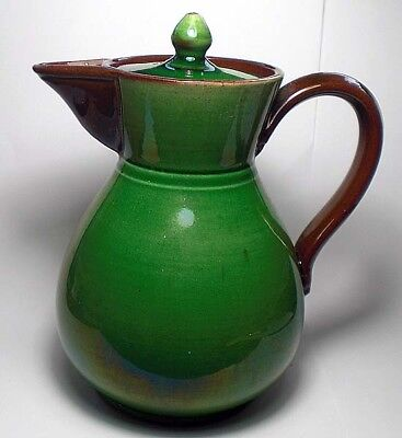 A bachelor's tea pot in the style of Dr. Christopher Dresser, Watcombe c.1875