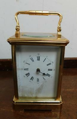 large brass cased striking carriage clock for restore