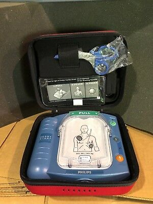 Philips HeartStart OnSite with Red Case, Pads, and Battery