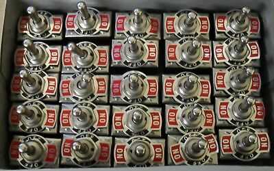 25 DPDT Toggle Switches ON/OFF/ON