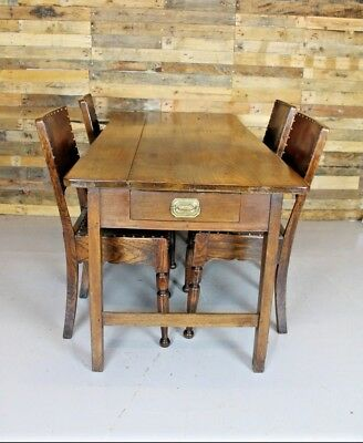 Vintage Antique 19th Century French Elm Farmhouse Dining Table