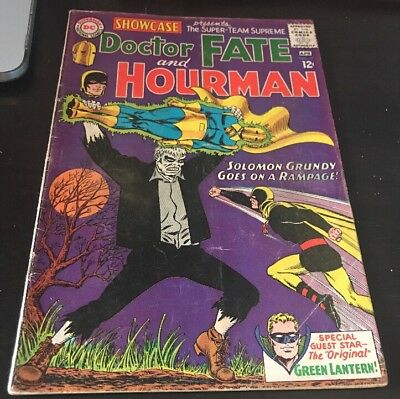 Showcase #55 Doctor Fate and Hourman 1st Silver Age Solomon Grundy DC KEY Comic