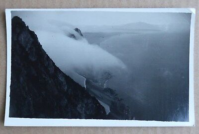 Levante cloud at Gibraltar, 1937 vintage RPPC