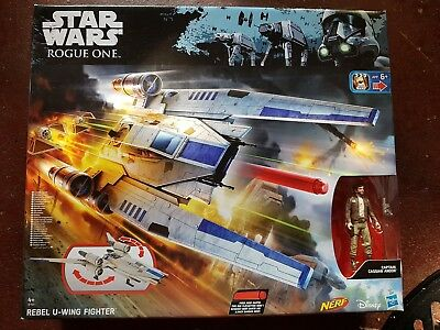 Hasbro STAR WARS Rogue One Rebel U-Wing Fighter with NERF Darts