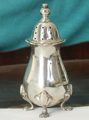 42g Solid Silver Four Footed Pepperette - Bham 1956 - Barker Brothers Silver Ltd