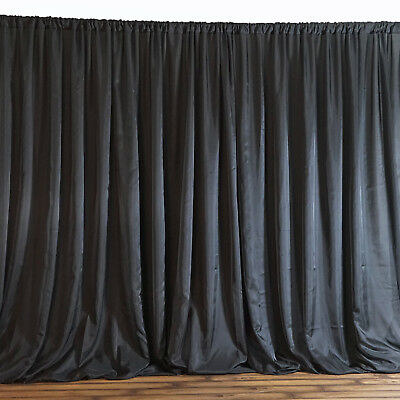 BLACK BACKDROP 20x10 ft Stage Party Wedding Tradeshow Booth Decorations SALE