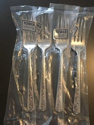 1937 TOWLE Salad Fork RAMBLER ROSE 4 Sterling Silver Flatware No Mono NEW UNUSED
