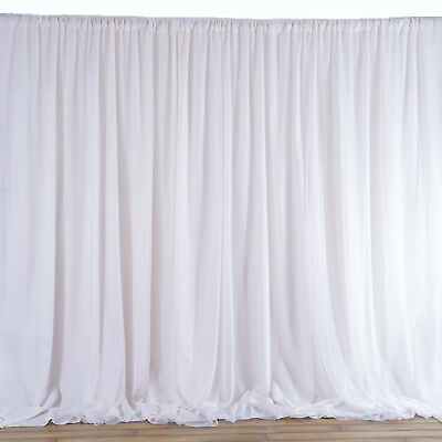 White Backdrop 20x10 Ft Stage Party Wedding Tradeshow Booth