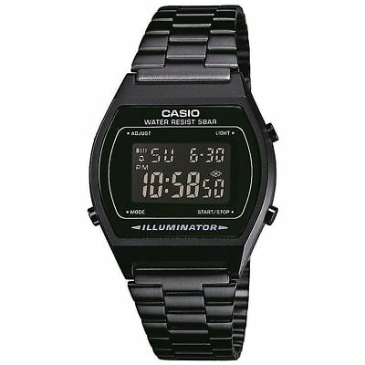 Casio Black Dial Unisex Classic Digital Watch Stainless Steel Band B640WB-1BEF