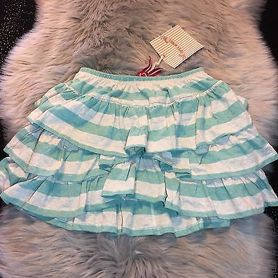 NWT Paperwings Girls Frilled Skirt Lt Grey/Mint Organic Cotton Size 14 Nice!