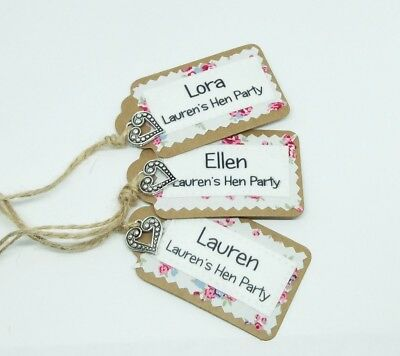 Bridesmaid Hen Party Gift Tags Bridal Wedding Favours Personalised