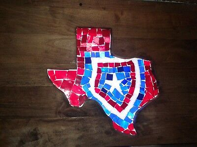 "Texas 22""×14"" Stained Glass Suncatcher"
