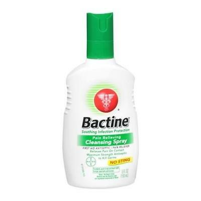 Bactine Pain Relieving Cleansing Spray 5 OZ  (3 Packs)