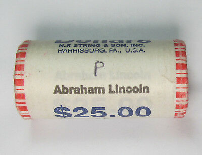 $25 Roll of 2010-P Abraham Lincoln Presidential Dollars BU Uncirculated