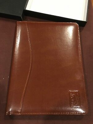 Mens Writing Leather Portfolio with PGA Tour logo embossed - BRAND NEW