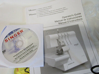 Singer 14SH654 Sewing Machine/Embroidery/Serger Owners Manual With DVD