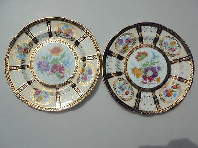 2 Old Royal Paragon Bone China Queen Mary Reproduction Plates Salad or Luncheon