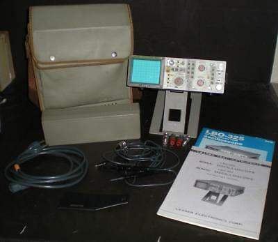 Leader LBO-325 Oscilloscope 60MHz w/ Instructions,Probes,Case & MORE