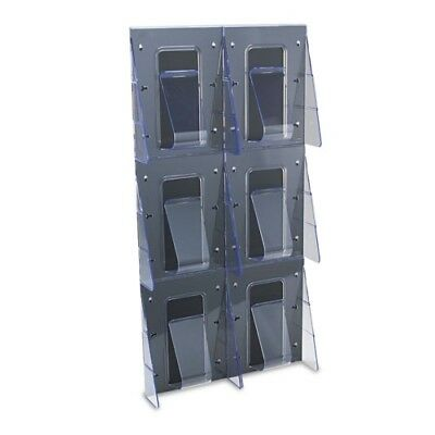 Deflecto Stand-Tall 1-Piece Literature Rack for Magazines - 56401