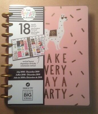 """NEW! 2018-19 CLASSIC """"GOLD GETTER"""" Happy Planner from me & my big ideas VERTICAL"""
