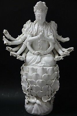 Very Beautiful Large Chinese Blanc De Chine Seated Buddha - Extremely Rare -L@@k