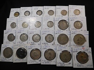 A80 South Africa Silver Mixed Group 24 pcs 3.3602 Oz. Total ASW