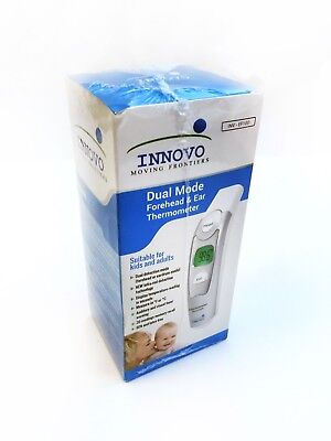 Innovo Dual Mode Forehead And Ear Thermometer INV-EF100 w/ User Manual & Holder
