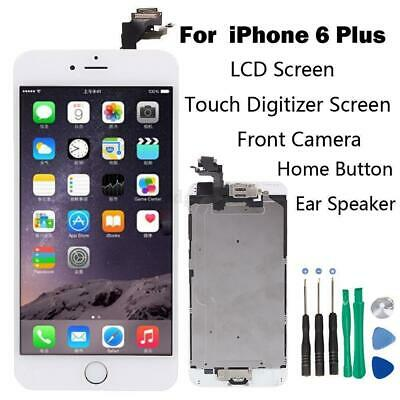 """White iPhone 6 Plus 5.5"""" LCD Touch Lens Screen Digitizer have homebutton&Camera"""