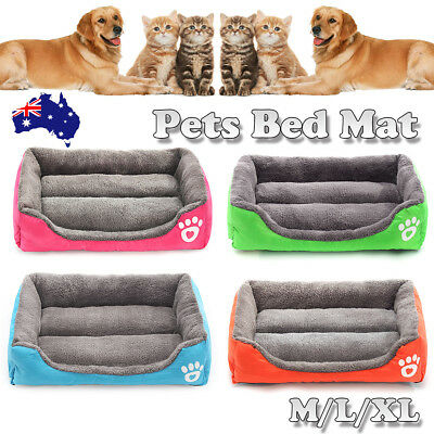 M/L/XL Pet Dog Cat Bed Puppy Cushion House Soft Warm Kennel Mat Blanket Washable
