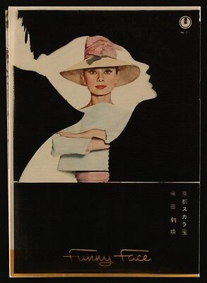 FUNNY FACE Vintage Japanese movie program AUDREY HEPBURN VERY RARE 1957